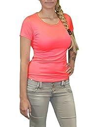 S&LU Tolles Damen Basic Shirt in vielen tollen Uni-Farben Gr. XS-M (34-38)