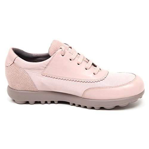Camper D9194 (Without Box) Sneaker Donna Rosa Antico Tissue/Leather Shoe Woman rosa antico