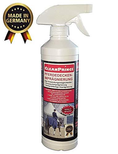 0,5 Liter CleanPrince Pferdedeckenimprägnierung Pferdedecken Imprägnierung gebrauchsfertig Imprägniermittel Fleckschutz Nässeschutz Wasserschutz -