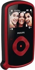 Philips CAM150RD Caméscope de poche Port Micro SD Full HD 8 Mpix Zoom numérique 5x Étanche 3m Rouge