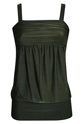 PILOT® breiten Saum Trägertop Khaki Grün