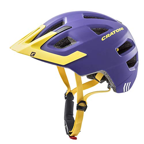 Cratoni Kinderfahrradhelm Maxster Pro, Purple-Yellow matt, Gr. S-M (51-56 cm)