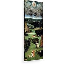 Hieronymus Bosch - Paraíso - El Juicio Final - Tríptico - 40x120 cm - Impresión en lienzo textil - Muro de arte - Old Masters / Museum