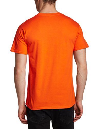 Football Fan Herren T-Shirt World Cup Football 2014 Ivory Coast Circle Mens T-shirt Orange - Orange