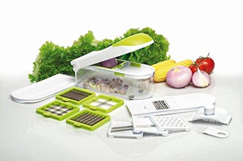 DICER Express Cortador de Verduras Completo de Accesorios para Cortar, rallador, rebanador Picador y sminuzzare–Visto en TV