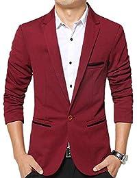 HX fashion Chaqueta De Algodón De Otoño para Hombres 1 Chaqueta Tamaños  Cómodos De Traje Clásico bd01d37d5a8