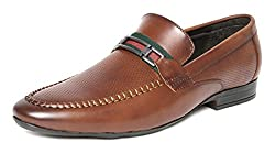 San Frissco Mens Tan Loafers - 7 UK