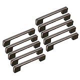 FBSHOP(TM) 10PCS Retro rot Square Bar Schrank Edelstahl Moderne Hardware Türknopf Möbelgriffe Türknauf für Küche und Bad Schränke Schrank-Lochabstand:128mm