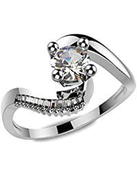 Ring For Women With Certified Real Diamond Taper Baguette Diamonds Wt 0.05 Ct In Sterling Silver 925, Silver Taper...