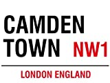 Londra–Camden Town–Targhe in metallo Nostalgia–Dimensioni 20x 15cm