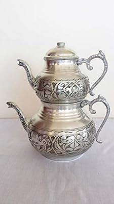 fabriqué à la Main en cuivre Turc Pendentif Incrusté Ottoman Antique Fait à la Main Théière