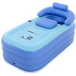 Intime Pliable Gonflable Adultes Chauds Baignoire, Enfants Piscine Gonflable, Bleu