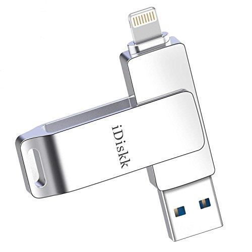 [MFi Zertifiziert] iDiskk 32GB USB 3.0 Speicherstick,Speicher-Stick,USB-Stick,Speichererweiterung für iPhone,iPad,iPod,Mac,Laptop,PC (Externen Speicher-laufwerk Für Ipad)