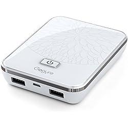 Gogyre 10600mAh Batterie Externe 2 Ports USB Chargeur de Secours avec un pile de batterie conçus par Boston-Power pour Smartphones, téléphone portables, iPhone, Android et Tablettes - Blanc