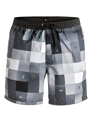 Quiksilver Herren CHECKMARKVOLL17 Check Mark 17 Zoll Schwimmshorts, Anthracite Drop Out small, S -