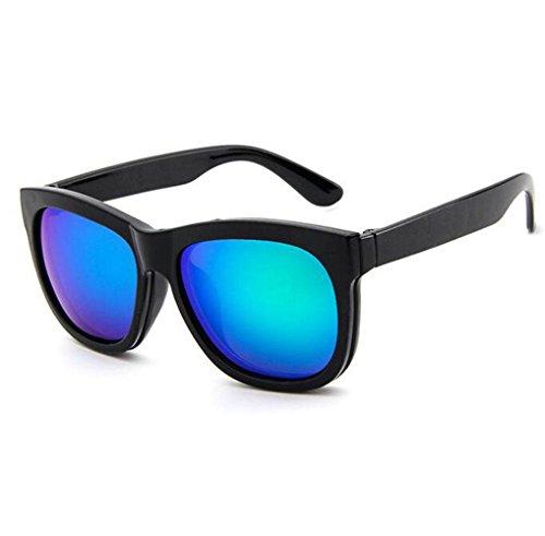 Z&YQ Sonnenbrille Doppelverwendung Clip Sonnenbrille Retro Brillengestell Abnehmbare Sonnenbrille...