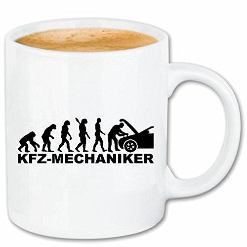 Kaffeetasse 'KFZ MECHANIKER - MECHATRONIKER - LEHRLING - AUSZUBILDENDER - KFZ MEISTER' Keramik 330...