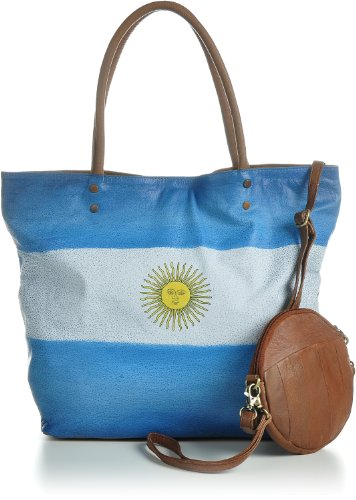 13 Multicolore donna Borsa x Argentina x 43 tote 33 Masquenada cm twE8w