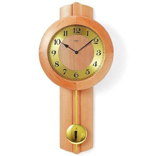 Bella orologio da parete con pendolo Movimento Di Funk Ontano Legno online sicuro acquisto in Commercio all'ingrosso orologi negozio online AMS 5165-16