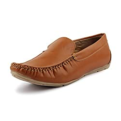 ROSSO ITALIANO Mens Tan Synthetic Loafers ( ris499Tn305-8 ) - 8
