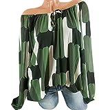 IMJONO Damen Langarmshirt Sweatshirt Pullover Arten von Mode-Stile Optional(EU-44/CN-3XL,Armeegrün)