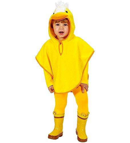 shoperama Küken Kinder-Kostüm Poncho Cape Überwurf Kapuze Mädchen Jungen Plüsch Kleinkind Tier-Kostüm Huhn Bauernhof, Größe:110 (Kinder Bauernhof Tier Kostüm)