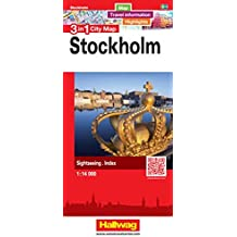 Stockholm 3 in 1 City Map: Map, Travel information, Highlights, Sightseeing, Index (City Map 3 in 1)