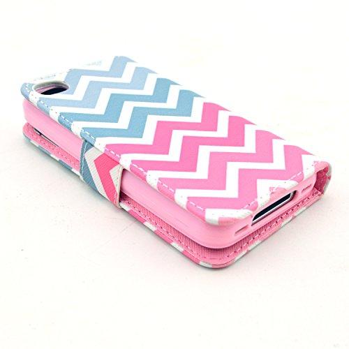 MOONCASE iPhone 4 Case Motif Conception Coque en Cuir Portefeuille Housse de Protection Étui à rabat Case pour iPhone 4 4S P24
