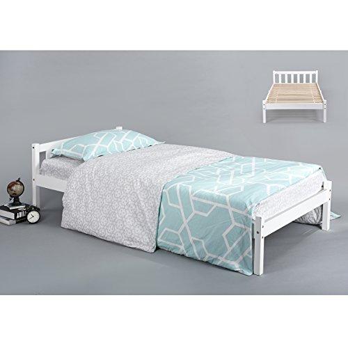 Innovareds Natürliche Starke Kiefer Solide Holz Einzelbett Rahmen Weiß (Kinder-einzelbett-rahmen Für Mädchen)
