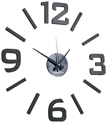 PEARL Uhr Zum Aufkleben: 1-Meter XXL-Design-Wanduhr Zum Aufkleben (Wanduhr Zum Kleben)