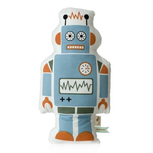 Ferm Living - Kissen - Mr. Large Robot 100 % Bio-Baumwolle 28,5 x 50 cm