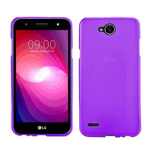 TBOC® Lila Gel TPU Hülle für LG X Power2 - LG X Power 2 (5.5 Zoll) Ultradünn Flexibel Silikonhülle