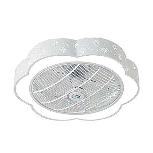 Ceiling Ventilatore a soffitto con Lampada silenziosa Ventilatore a soffitto LED Luce di soffitto Camera da Letto Lampada Illuminazione vivaio,C