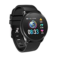BingoFit Fitness Tracker Watch,Activity Tracker Watch with Heart Rate Blood Pressure Sleep Monitor,Water Resistant Smart Wristband Connected GPS Step Pedometer Calorie Counter for Kids Men Women Black