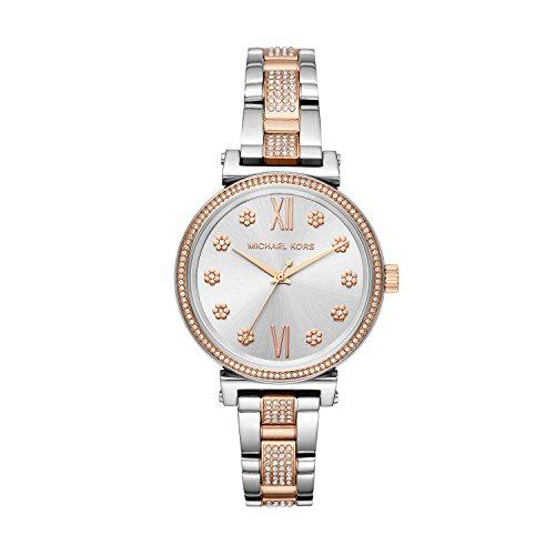 Michael Kors Damen Analog Quarz Uhr mit Edelstahl Armband MK3880
