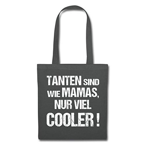 Spreadshirt Tanten Sind Wie Mamas Nur Viel Cooler Stoffbeutel Graphite