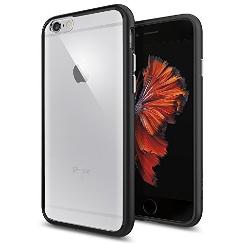 Price comparison product image iPhone 6 Case, Spigen [Ultra Hybrid] iPhone 6s Case TPU Bumper Hard PC Back Premium Protection Air Cushion Technology Slim Thin Phone Cover Case for iPhone 6 / iPhone 6s - SGP11600 - Black
