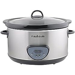 Maybaum Mayb SC 1Digital olla de cocción lenta/Slow Cooker para 1001Platos, 4,5L, Plata