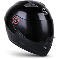 SOXON ST-666 Shiny Night · Integral-Helm Motorrad-Helm Helmet Roller-Helm Sport Scooter-Helm Cruiser Urban Sturz-Helm · ECE zertifiziert · inkl. Sonnenvisier · inkl. Stofftragetasche · Schwarz · XL (61-62cm)