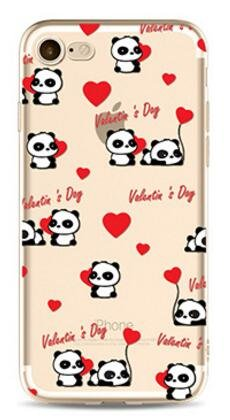 Cover Panda Per iPhone 7 4.7,Hippolo TPU Gel Silicone Protettivo Skin Custodia Protettiva Shell Case Cover Per iPhone 7 4.7 (Per iPhone 7 4.7, p-3) Love-Day
