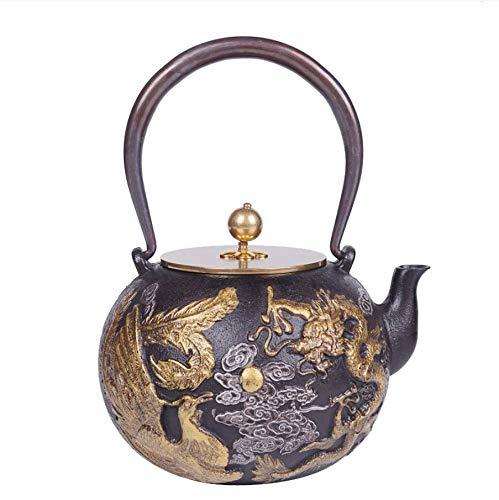 ROKTONG 1.3L Dragon and Phoenix Pot of Iron Pot Japanese