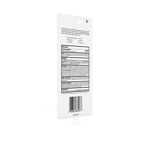 Protector solar mineral para bebé Neutrogena Pure & Free con amplio espectro SPF 60 y óxido de zinc, resistente al agua, hipoalergénico, sin aceite y sin PABA, 0,47 onzas