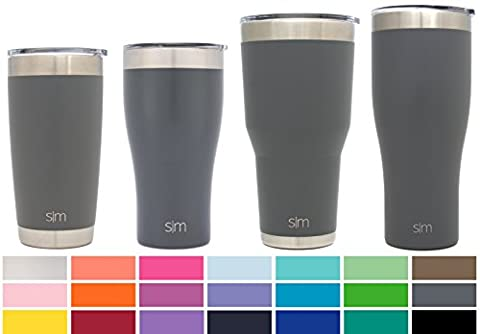 Simple Modern Cruiser Vacuum Insulated 30Oz Tumbler DoubleWalled 18/8 Stainless Steel Hydro Travel Mug With Lid Sweat Free Coffee Cup Powder Coated Flask Slate Gray