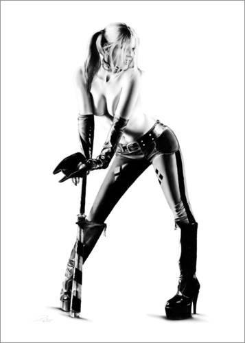Posterlounge Alubild 120 x 160 cm: Bat Her Up von Dirk Richter