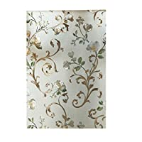 45x200cm Window Film Waterproof Self Adhesive Frosted Film Privacy Window Sticker Decorative Glass Film for Bathroom Office Meeting Room Living Room - Vine Flower