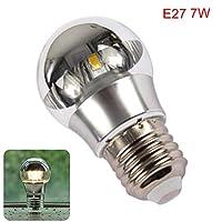 YUOKI LED Bulb Half Silvering Shadowless Warm White Eye Protect E27 E14 Restaurant 5W 7W 220V Home Luminous Energy Saving Studio Durable(E27 7WWarm White)