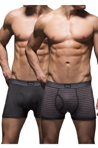 hommes-pack-2-jeep-double-a-fines-rayures-et-de-la-plaine-de-hippie-trunks-charbon-cerise-xl