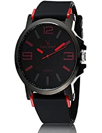 iSweven isweven V6 Silicone simple large digital sports exclusive watch Analogue Black Unisex Wrist Watch W1017bb