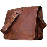 "🎁 Handgemacht Flap Messenger 11""Leder Unisex 100% echtes echtes Leder Messenger Bag Aktentasche Satchel | Vintage Crossbody echtes Leder | Mit kostenlosem Versand"
