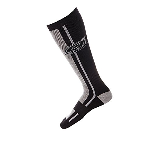 O\'Neal Pro MX Socken DRESSCODE Schwarz Grau Kniestrümpfe Strümpfe Motocross Enduro Offroad, 0356U-103